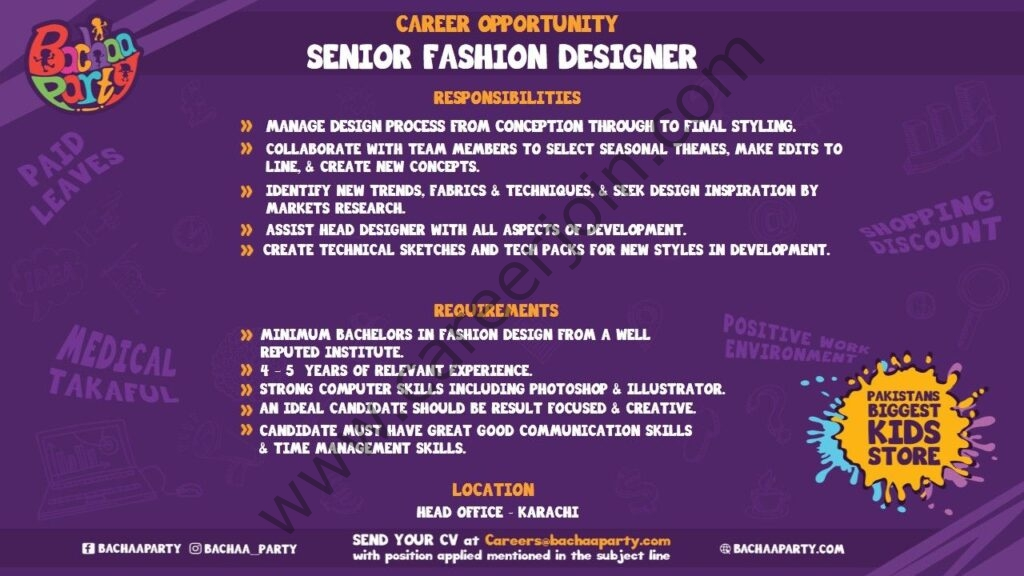 careers@bachaaparty.com - Bachaa Party Jobs 2021 in Pakistan