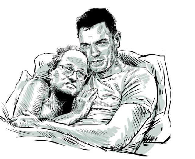 Pedrito con Joaquinito (imagen propiedad de El Mundo a donde está debidamente enlazada al final del post)
