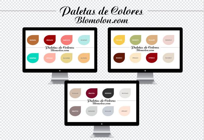 paletas de colores tres