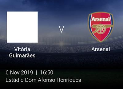 LIVE MATCH: Vitória Guimarães Vs Arsenal UEFA Europa League 06/11/2019