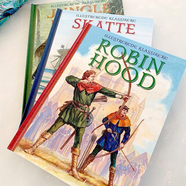 Bøger som Robin skal ha i fødselsdagsgave