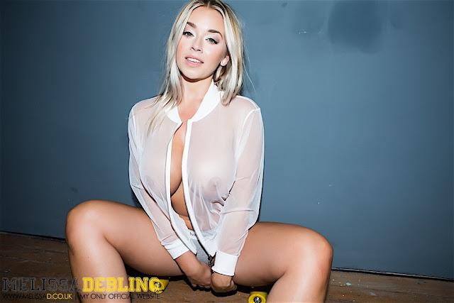 Melissa Debling big boobs skater girl smiling face sitting hot