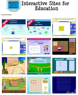 area and perimeter online games for kids