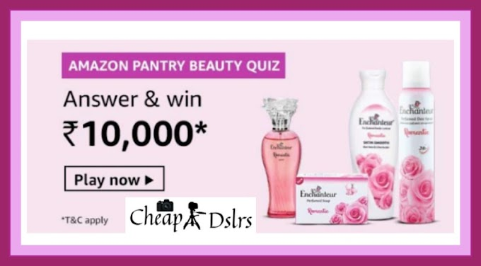 Amazon Pantry Beauty Quiz Answers Win – Rs.10000