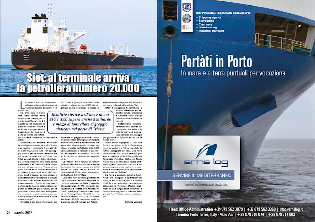 AGOSTO 2019 PAG. 24 - Siot: al terminale arriva la petroliera numero 20.000