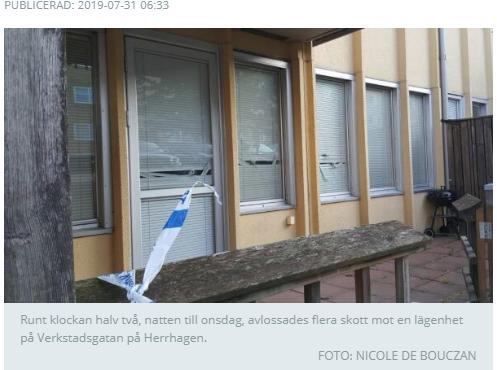 Zviedrijā caur logu šauj uz diviem cilvēkiem