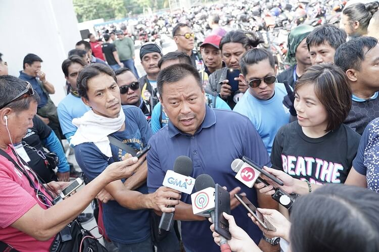 Sen. JV Ejercito said that he has pending bill in Congress addressing the regulation of motorcycle taxis