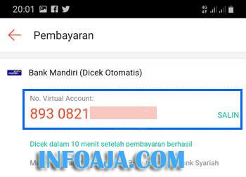 Nomor Virtual Account ShopeePay