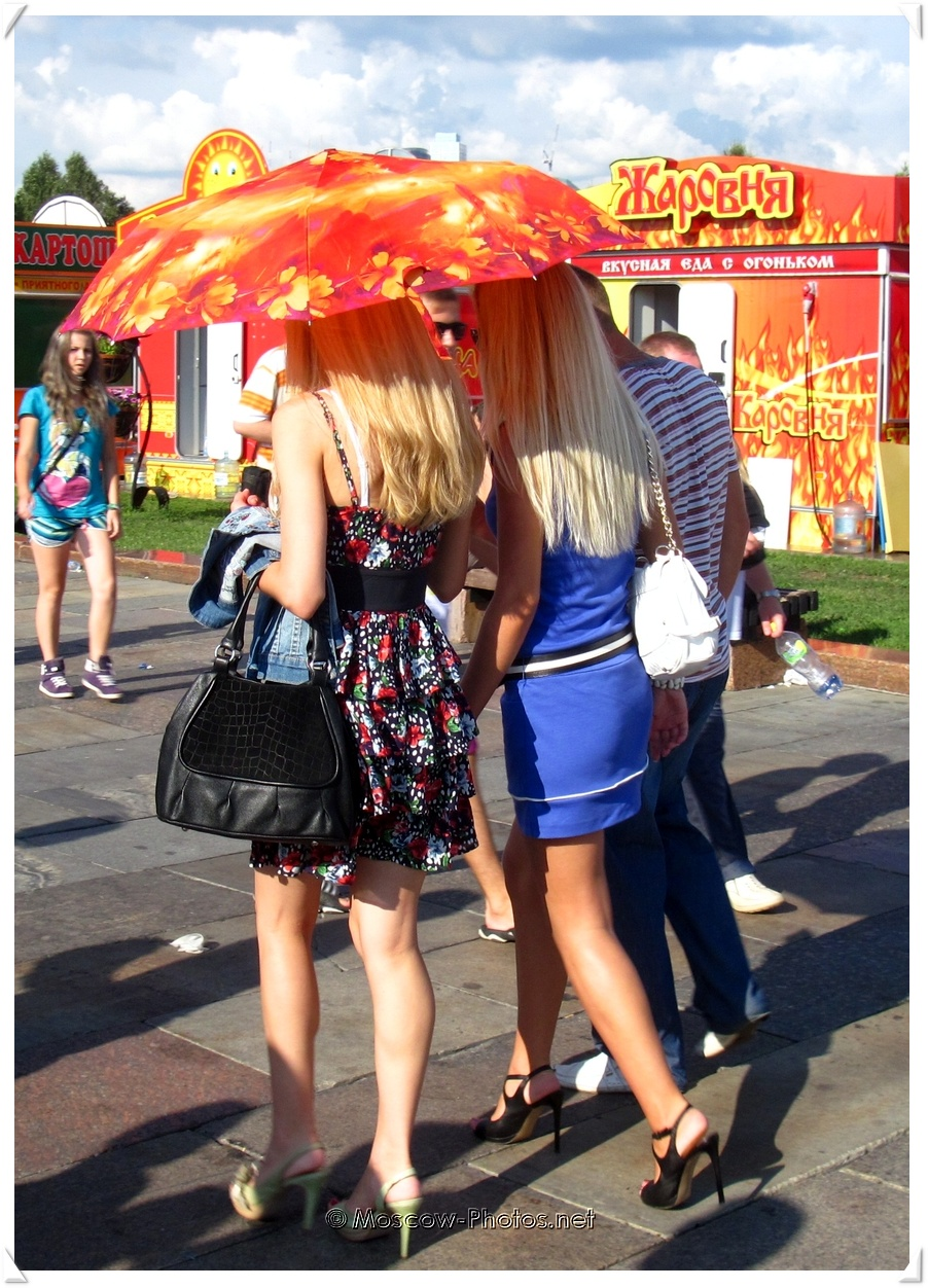 Russian Blonde Girls and Hot Summer Day