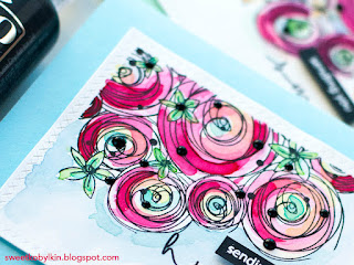 Floral Stamp Made To Be Watercoloured