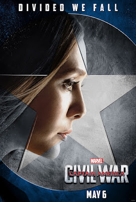 "Captain America: Civil War ""Team Cap"" Character Movie Poster Set - Elizabeth Olsen as Scarlet Witch"