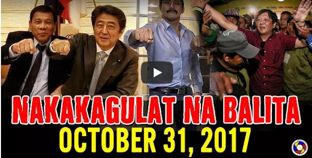Nakakagulat Na Balita Ngayon October 31, 2017 - Bongbong Marc0s   Pres Duterte   Robin Padilla