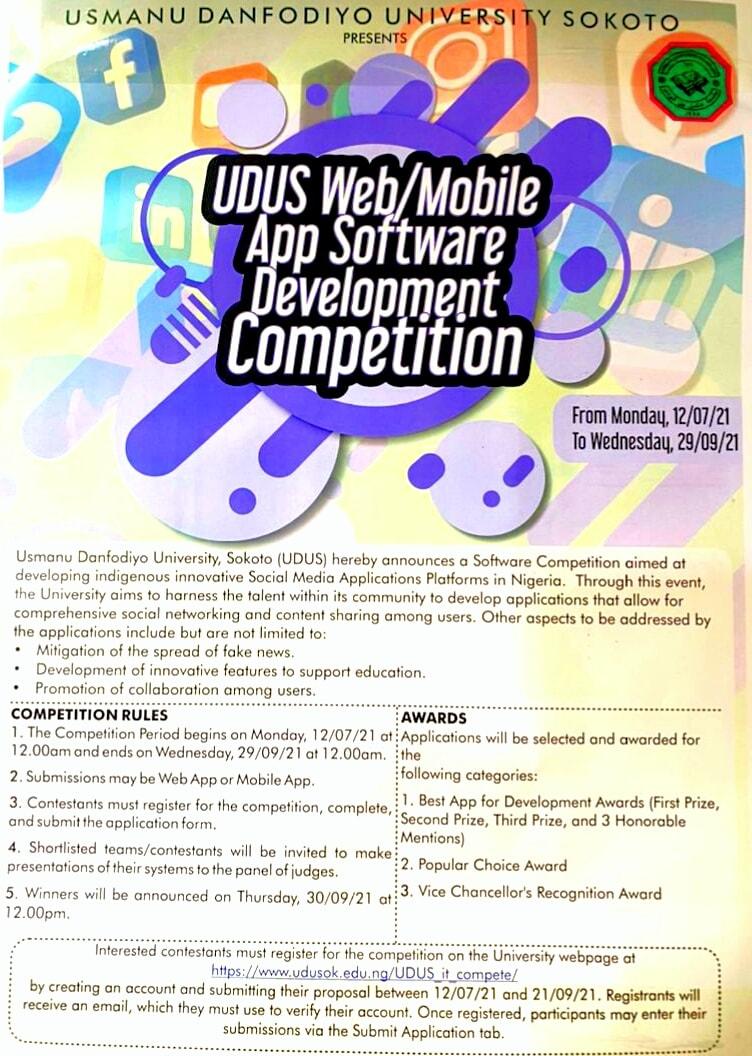 UDUSOK Web/Mobile App Software Development Competition 2021