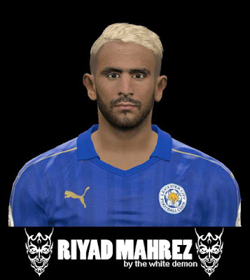 PES 2017 Riyad Mahrez New Face Hair 2018 / Yellow Hair