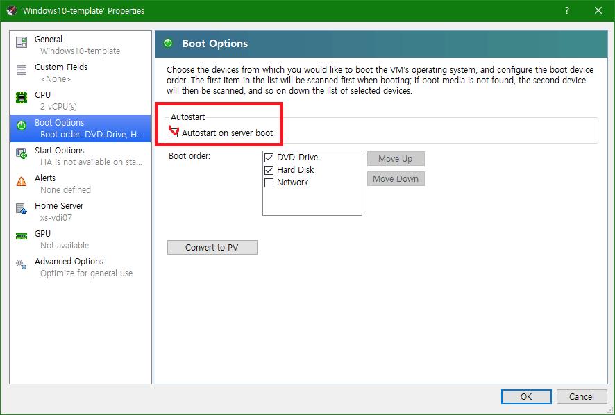 [VM] XenServer와 XCP-ng에서 가상 머신 자동 시작 설정하기