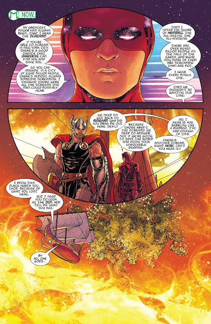 Daredevil takes Thor to Asgard and show him the Yggdrasil (the World Tree)