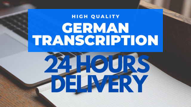 Perfectly german transcription of audio and video files in only 24 hours - Transcripts