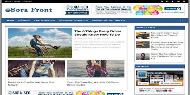 Sora Front Blogger Template