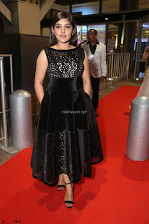 Niveda Thomas Black Sleeveless Cute Dress at 64th Jio Filmfare Awards South 2017 ~  Exclusive 107.JPG
