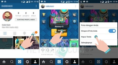 Cara Menghapus Mention Tag Foto di Instagram