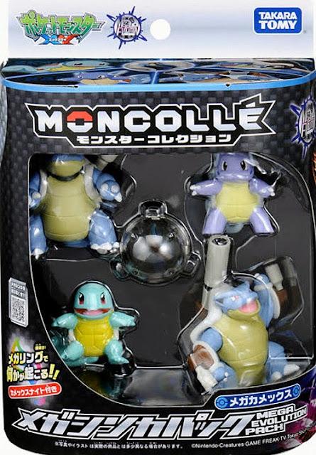 Wartortle figure Takara Tomy Monster Collection MONCOLLE Mega Blastoise Evolution pack