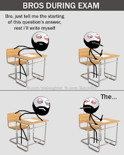 Bros during exam - funny pic
