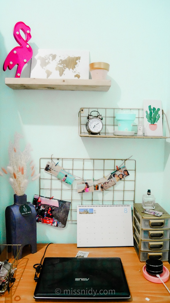 make over kamar hijau mint