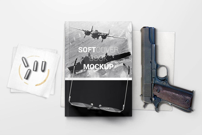 Free Download Soft Cover Book Mockup 2