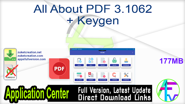 All About PDF 3.1062 + Keygen