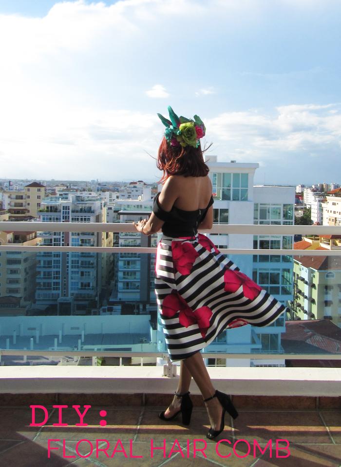 Valentina Vaguada: Floral comb, bachelorette, DIY, sping, summer
