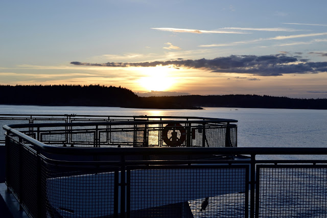 sunset in san juan islands