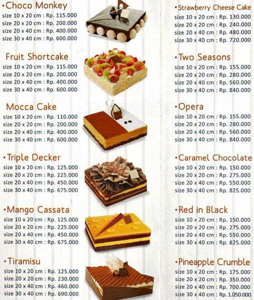 Harga Menu Kue Dapur Cokelat Terbaru Saat ini