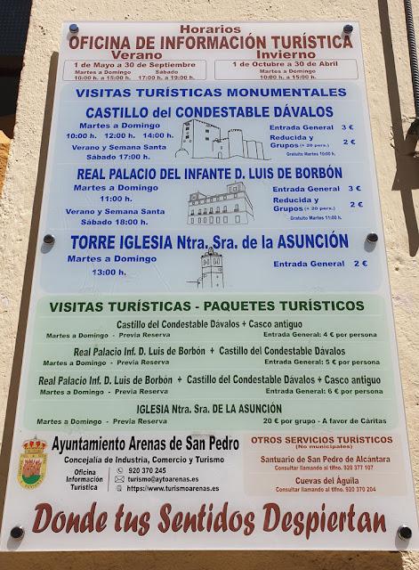Horarios de Arenas de San Pedro