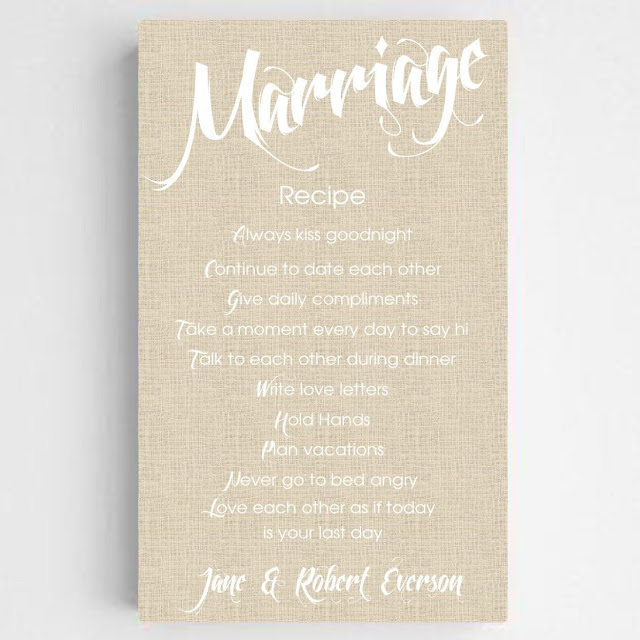 Marriage Canvas Sign