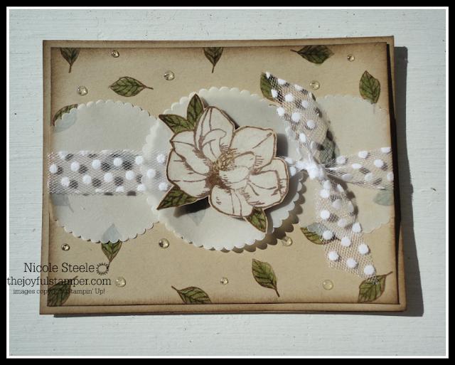 Magnolia Blooms card for Splitcoaststampers Sketch Challenge SC773 by Nicole Steele The Joyful Stamper