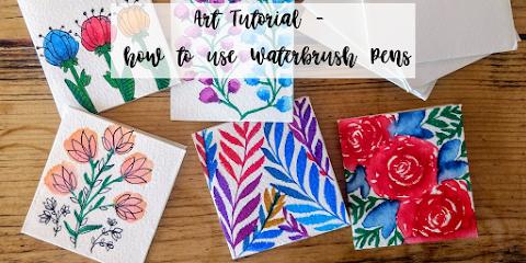 Water-brush Pens - Art Tutorial
