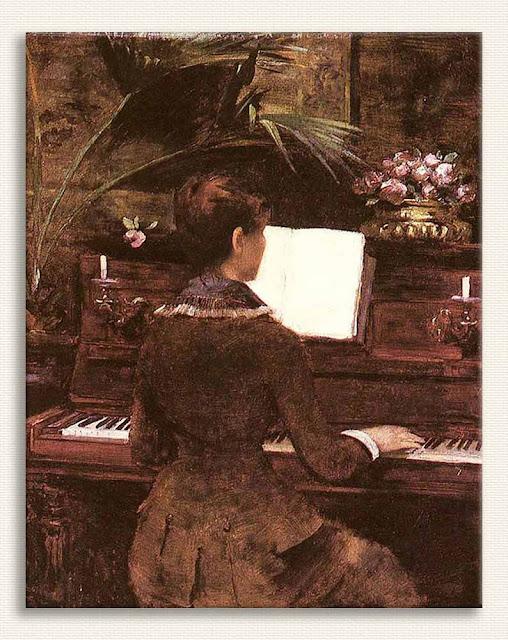 Louise Abbema, Piyanoda tablosu