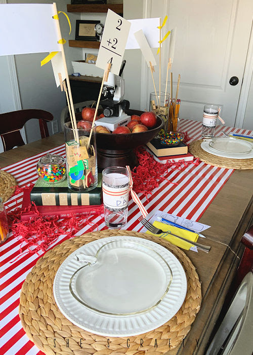 Back to School Table Scape