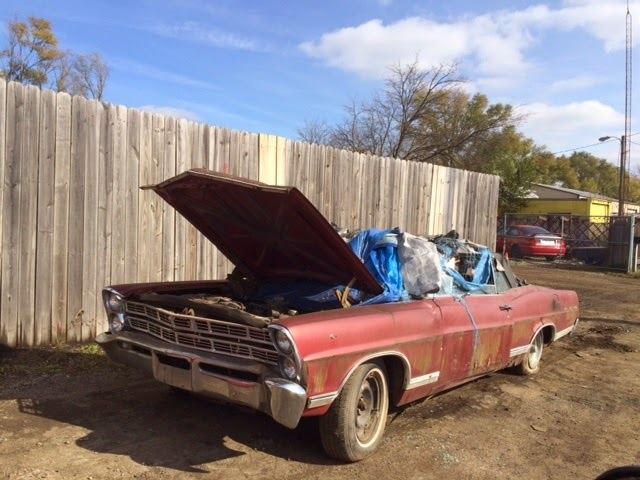 Ford Fairland junk car convertible