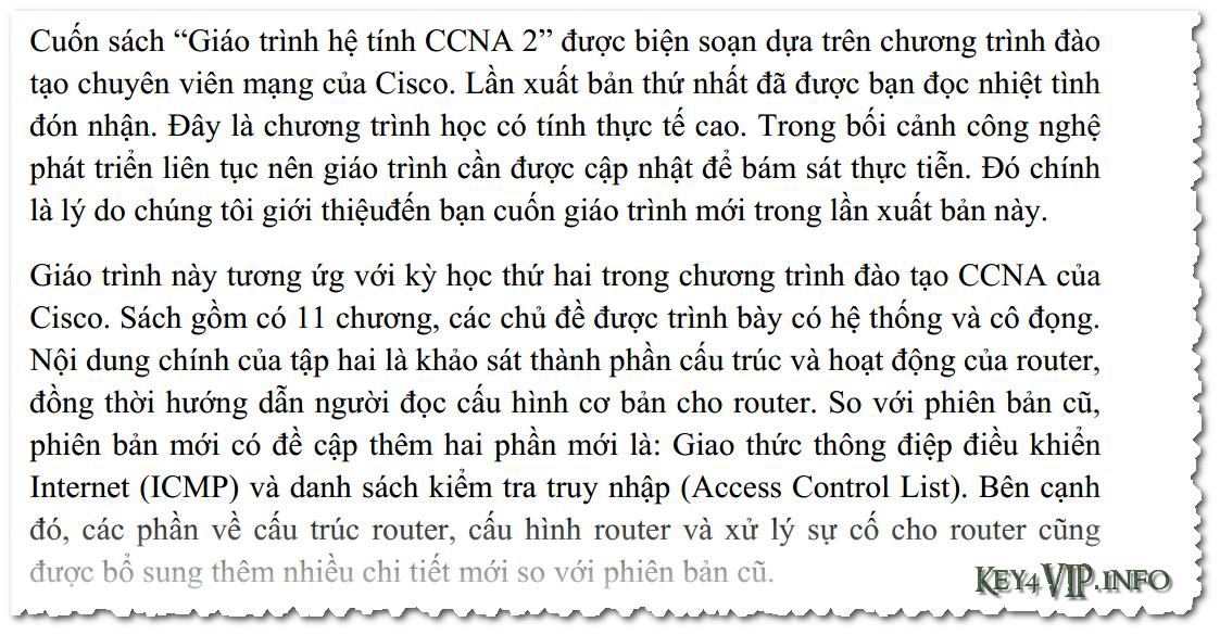 Tổng hợp Ebook và Video học CCNA Full Semester 2,3,4 tiếng Việt và tiếng Anh