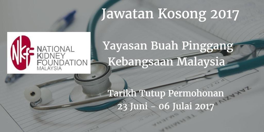 Jawatan Kosong NKF 23 Juni - 06 Julai 2017