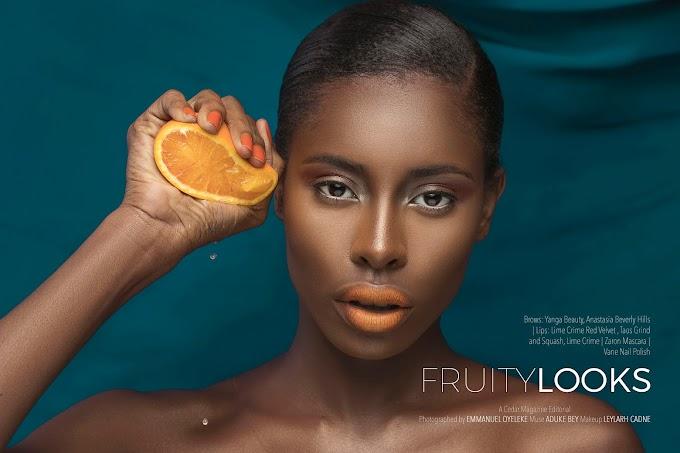 Beauty Feature - Leylarh Cadne X Emmanuel Oyeleke Present The Fruity Editorial, Featuring Aduke Bey