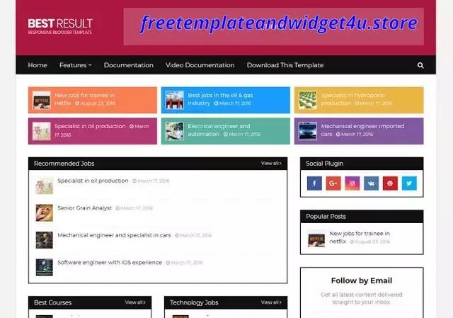 Best Result Responsive Blogger Template Free Premium