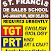 St. Francis De Sales School, New Delhi Wanted TGT plus PRT