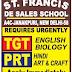 St. Francis De Sales School, New Delhi Wanted TGT plus PRT