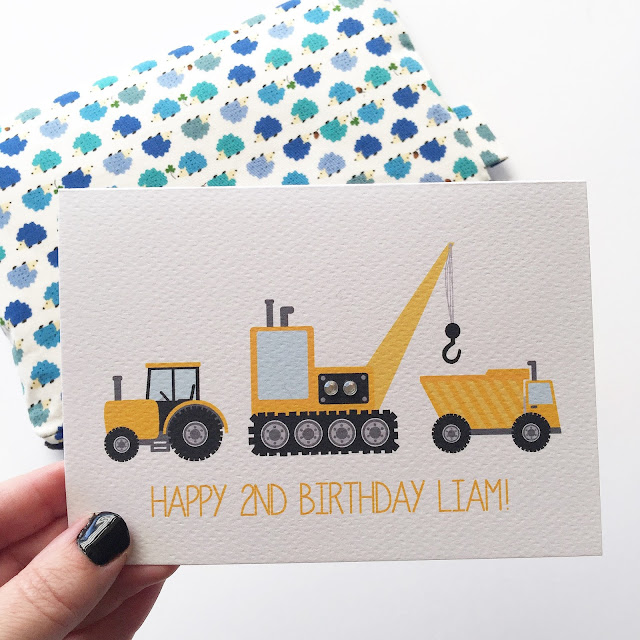 Personalised Birthday Boy Construction Card by Mum and Me Handmade Designs