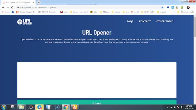 cara bukak link website banyak-banyak sekaligus