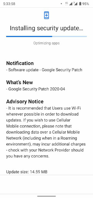 Nokia 3.2 receiving April 2020 Android Security Patch