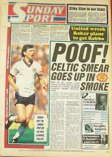 back page of the Sunday Sport newspaper from 19th April 1987