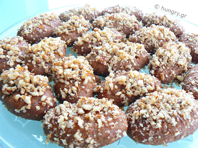 Melomakarona, Honey Cookies with Walnuts